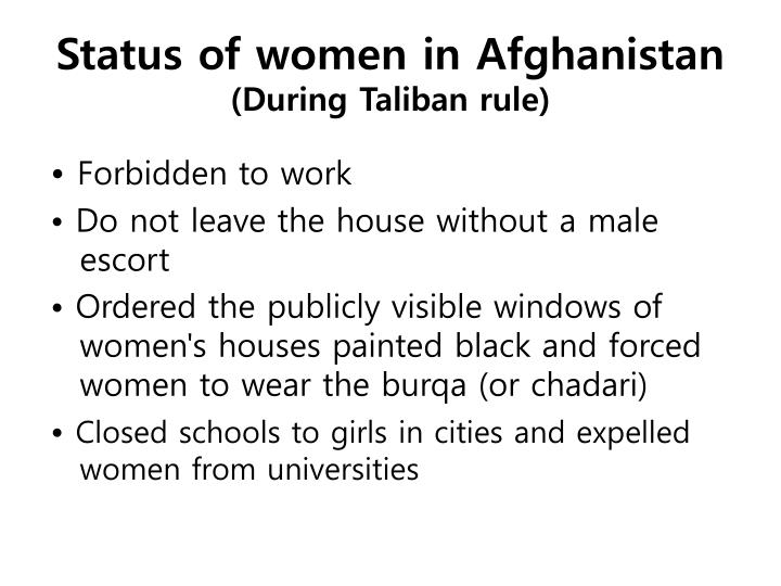 Status of women in Afghanistan