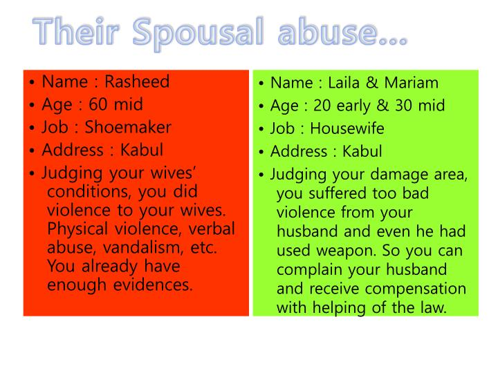 Their Spousal abuse…