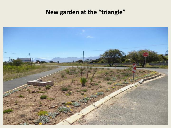 "New garden at the ""triangle"""