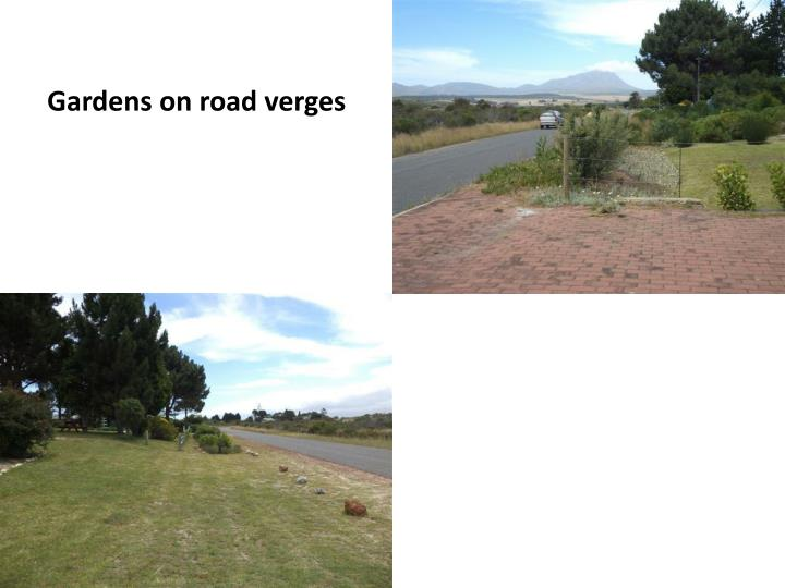 Gardens on road verges