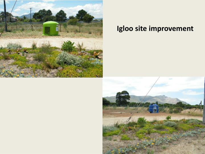 Igloo site improvement