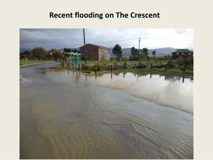 Recent flooding on The Crescent