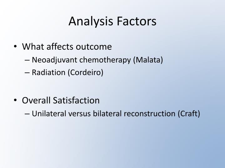 Analysis Factors