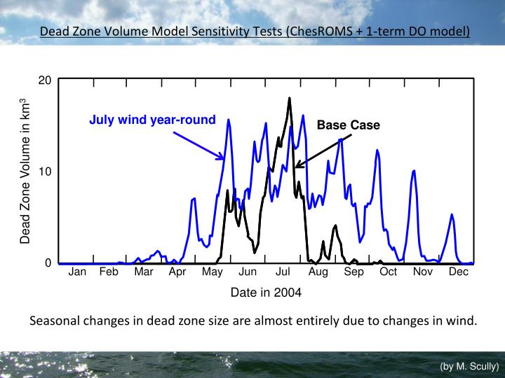 Dead Zone Volume Model Sensitivity Tests (ChesROMS + 1-term DO model)