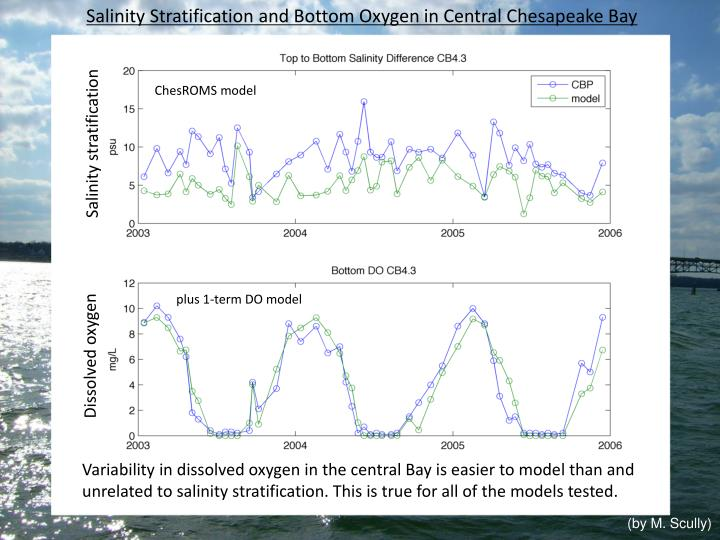 Salinity Stratification and Bottom Oxygen in Central Chesapeake Bay