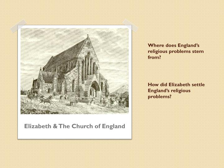 How did Elizabeth settle England's religious problems?