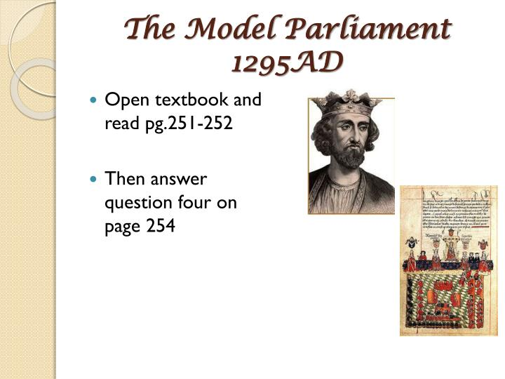 The Model Parliament 1295AD
