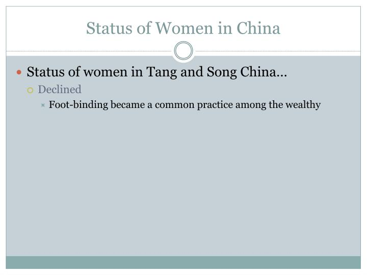 Status of Women in China