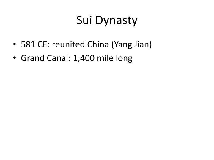Sui Dynasty