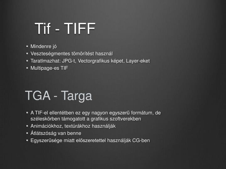 Tif - TIFF