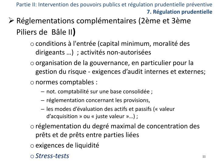 Partie II: Intervention des pouvoirs publics et régulation prudentielle préventive