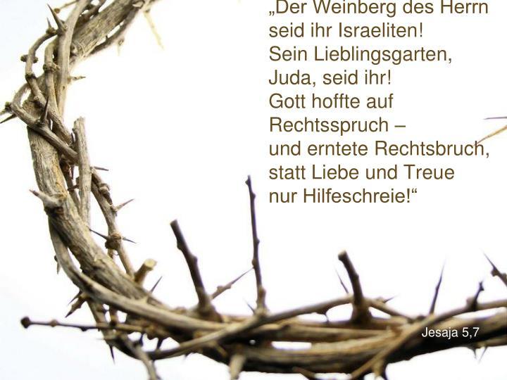 """""""Der Weinberg des Herrn"""