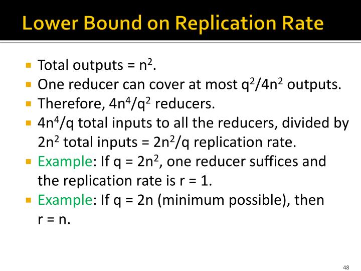 Lower Bound on Replication Rate