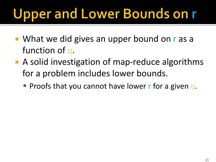 Upper and Lower Bounds on