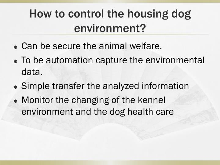 How to control the housing dog environment?