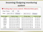 incoming outgoing monitoring system