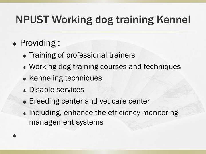 NPUST Working dog training Kennel