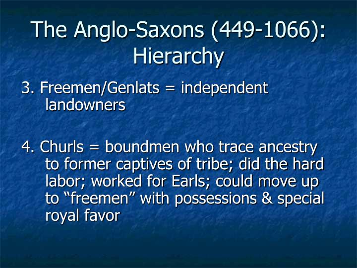The Anglo-Saxons (449-1066): Hierarchy