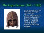 the anglo saxons 449 10665