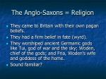 the anglo saxons religion