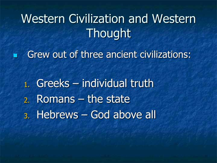 Western civilization and western thought