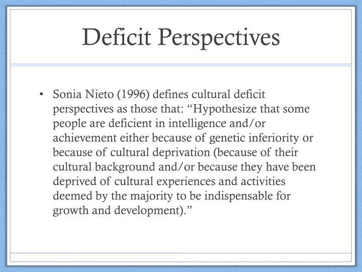 Deficit Perspectives