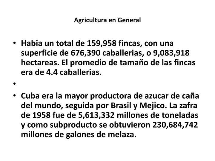 Agricultura en General