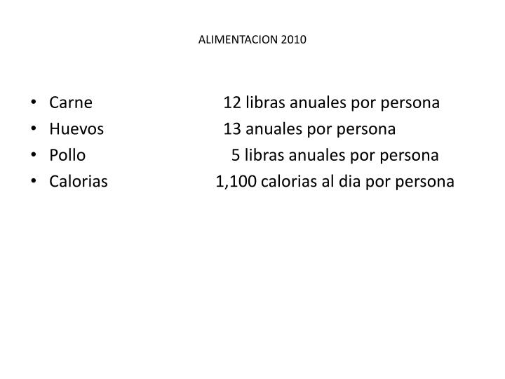 ALIMENTACION 2010