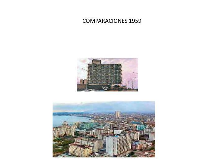 COMPARACIONES 1959