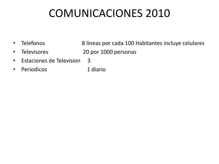 COMUNICACIONES 2010
