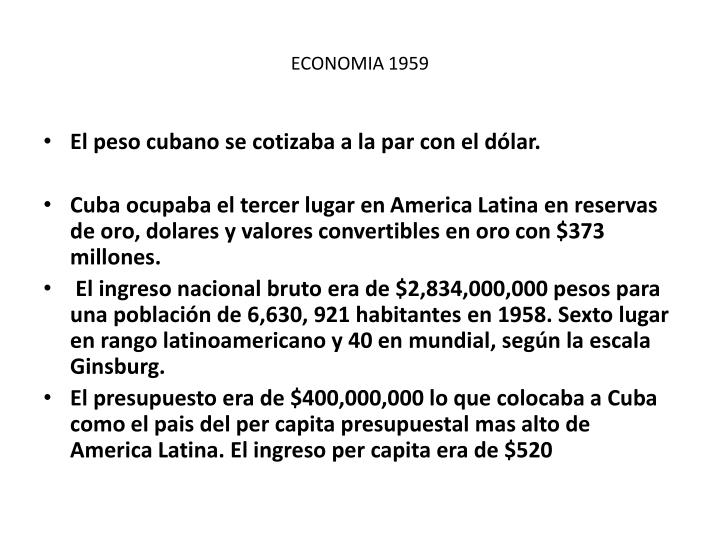 ECONOMIA 1959