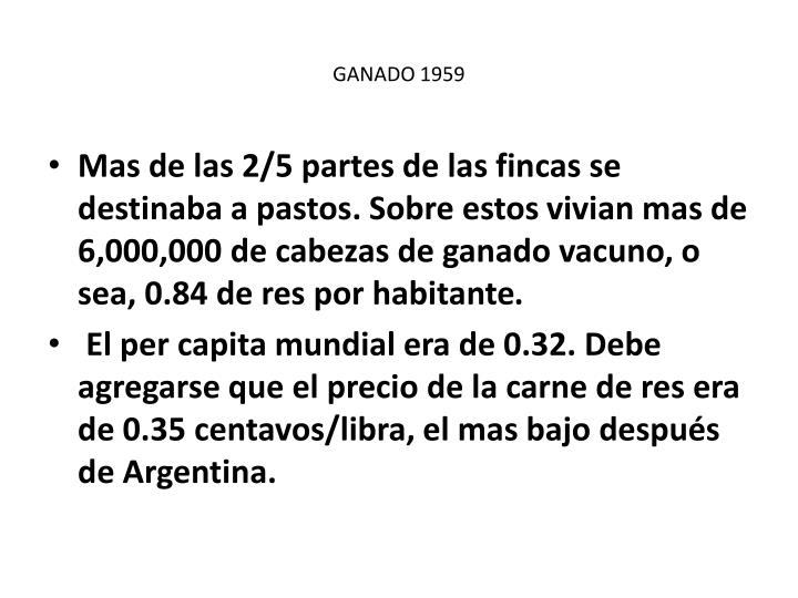 GANADO 1959