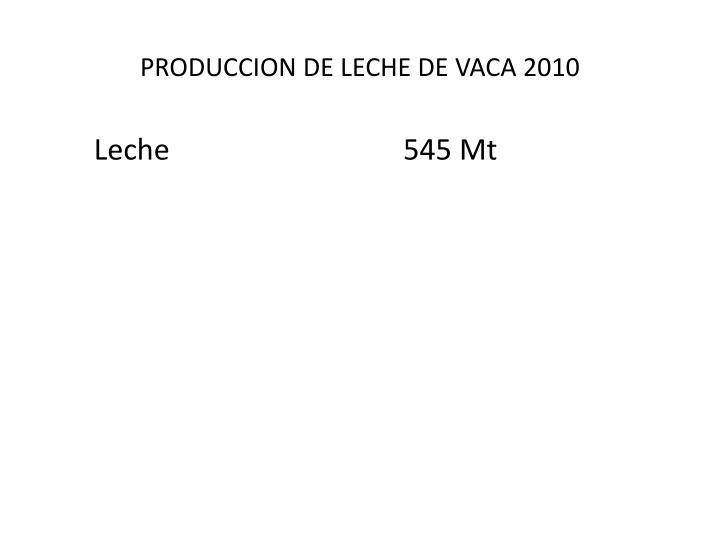 PRODUCCION DE LECHE DE