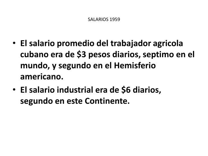 SALARIOS 1959
