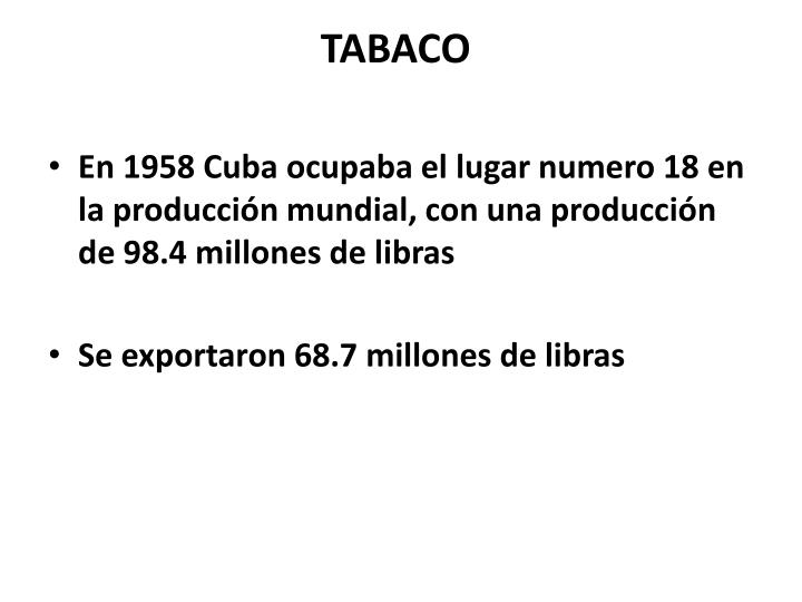 TABACO
