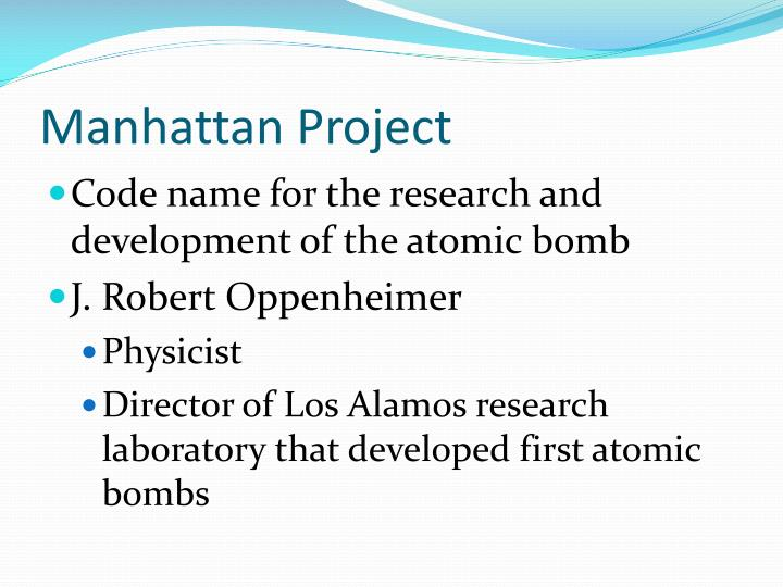 a research on the manhattan project The presidential election has brought many democratic issues into stark relief —  among them freedom of speech, freedom of religion, freedom.
