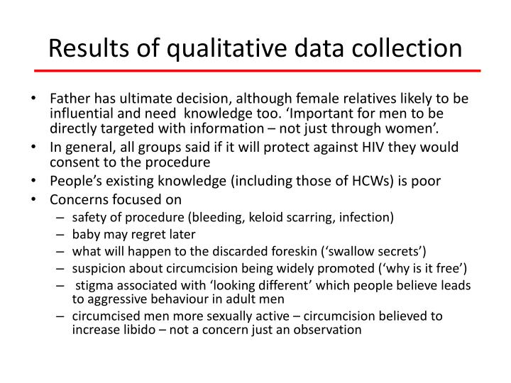 Results of qualitative data collection