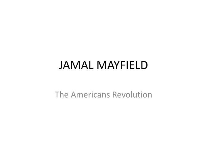 Jamal mayfield