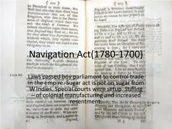 Navigation Act(1780-1700)