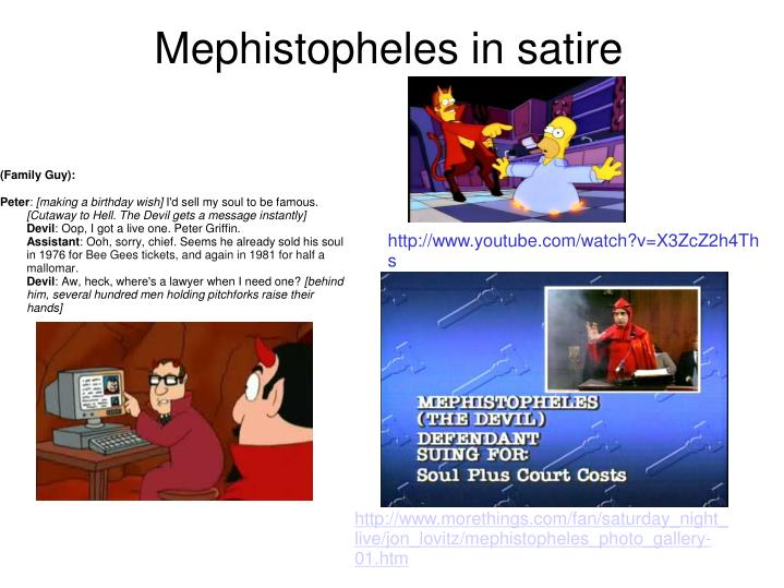 Mephistopheles in satire