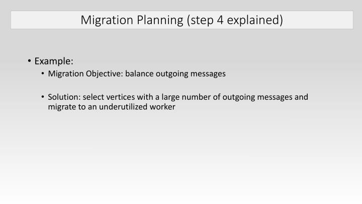 Migration Planning (step 4 explained)