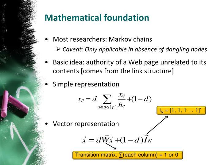 Mathematical foundation
