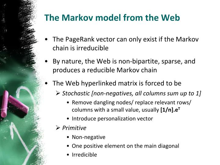 The Markov model from the Web