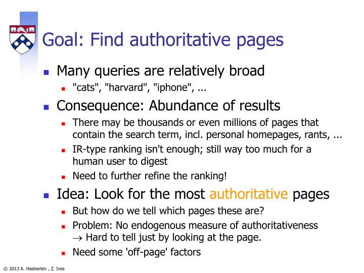 Goal: Find authoritative pages