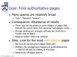 goal find authoritative pages