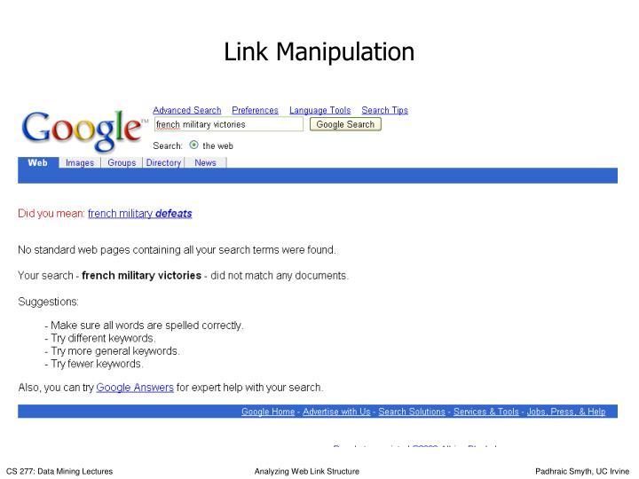 Link Manipulation