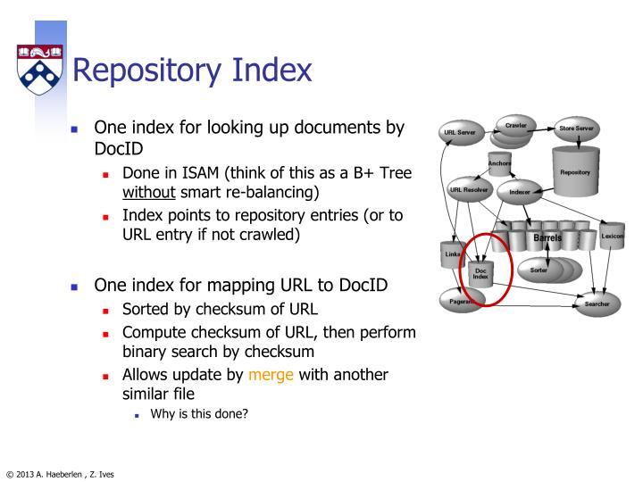 Repository Index