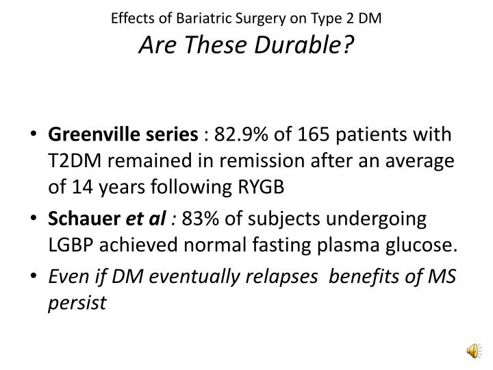 Effects of Bariatric Surgery on Type 2 DM