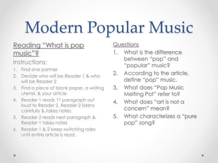 Modern Popular Music