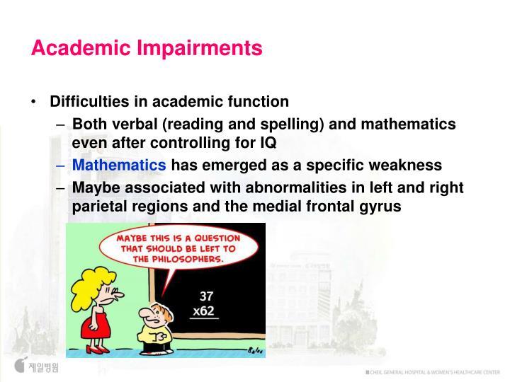 Academic Impairments
